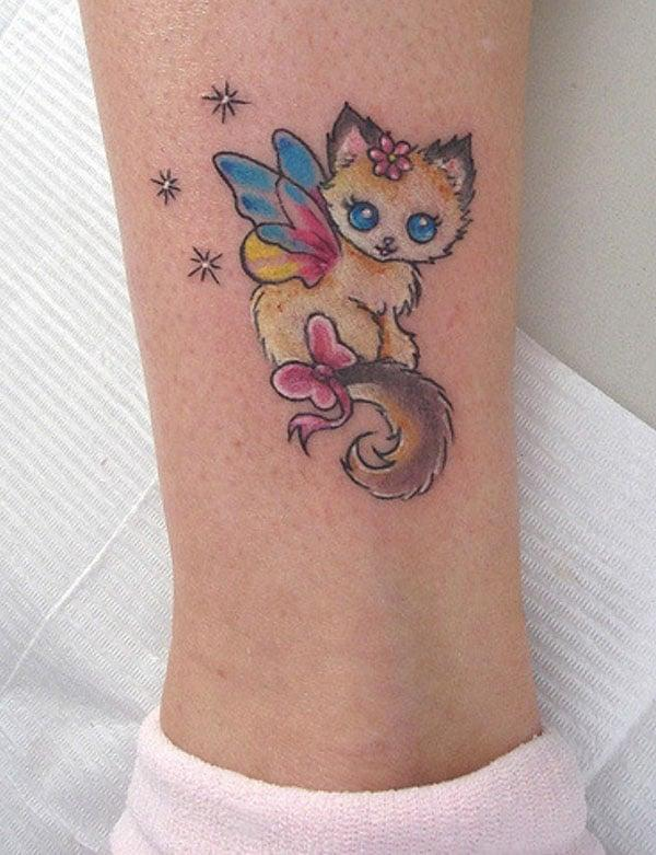 tattoos cat cute