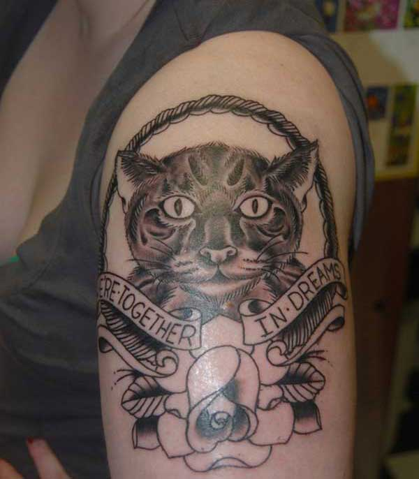 tatouages ​​de chat art