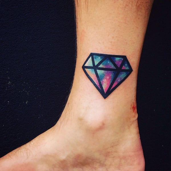 diamant tatovering ideer