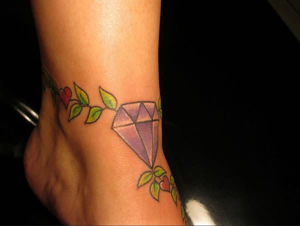 kleines Diamant-Tattoo
