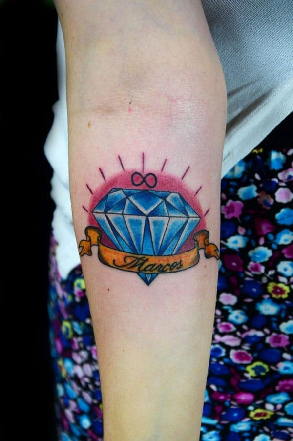 diamant tatovering design