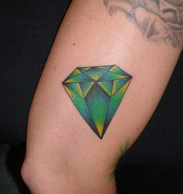 cool diamante tatuajeak