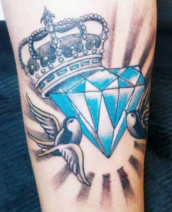 tatuatge de diamants per a dones