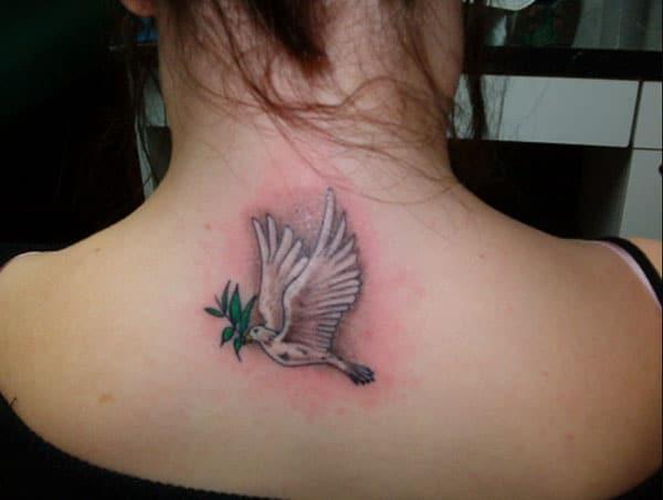 hình xăm đáng yêu chim bồ câu