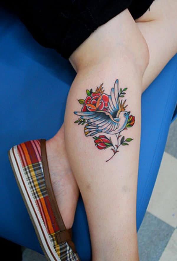 beautiful dove tattoos