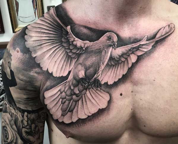 dove tattoos on chest