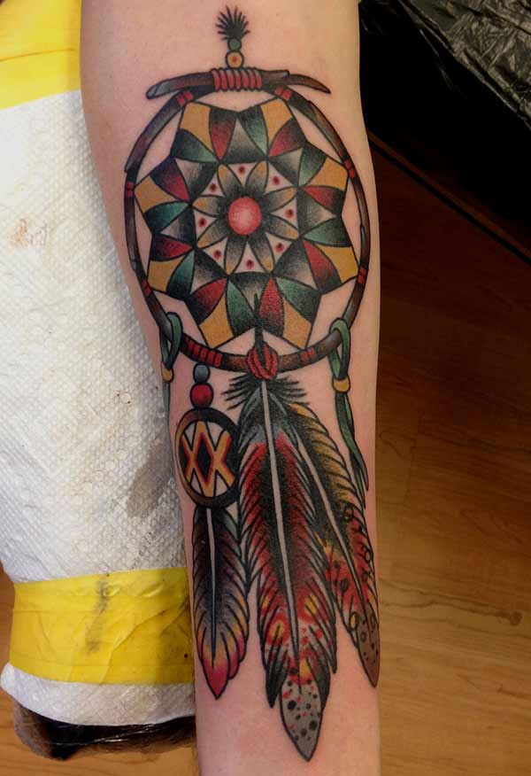 cool nga dreamcatcher tattoo