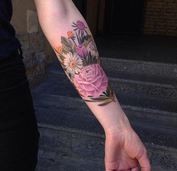 красиви цветни татуировки