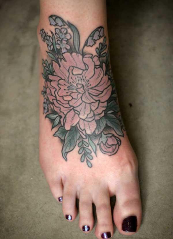 Frauen Fuß Tattoos
