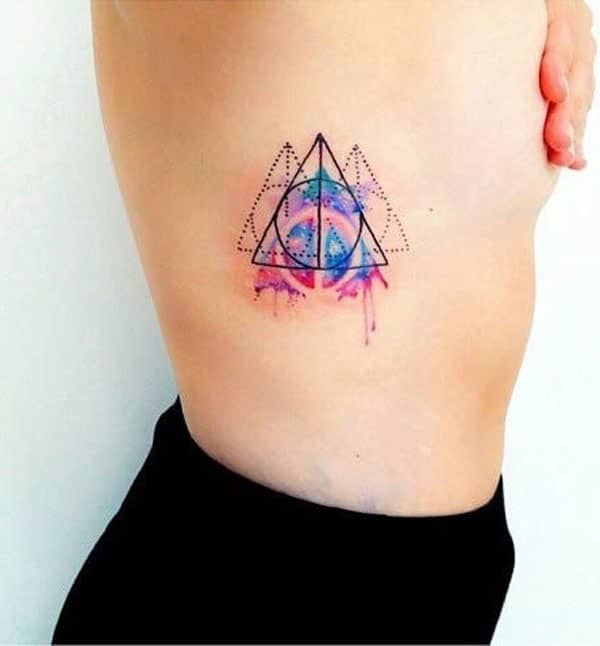 colourful geometric tattoos