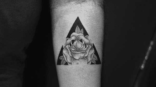 geometric flower tattoos