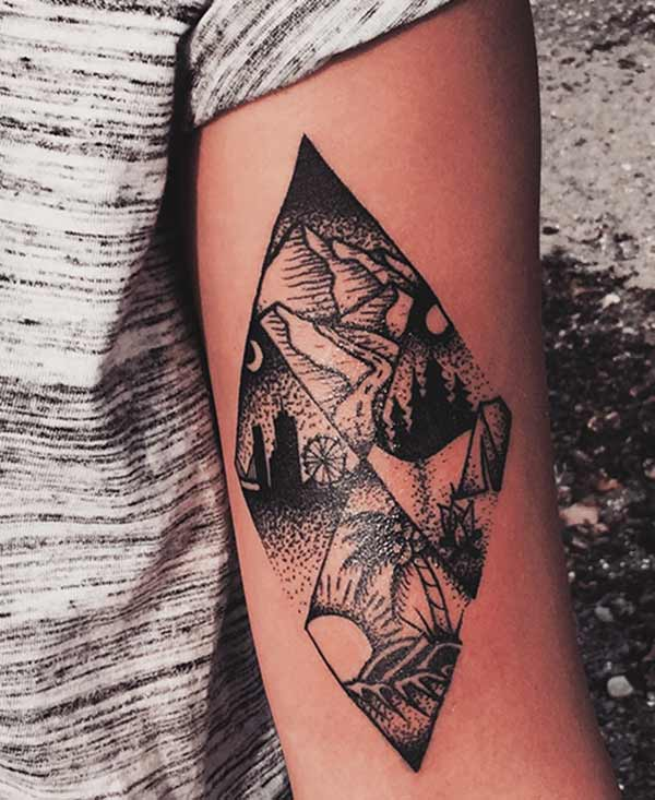 geometrísk tattoo