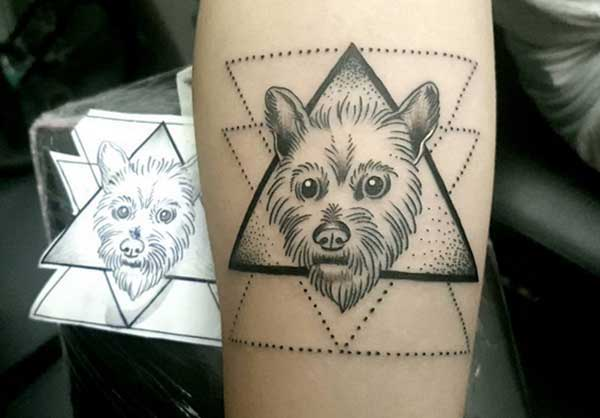 geometric design tattoos