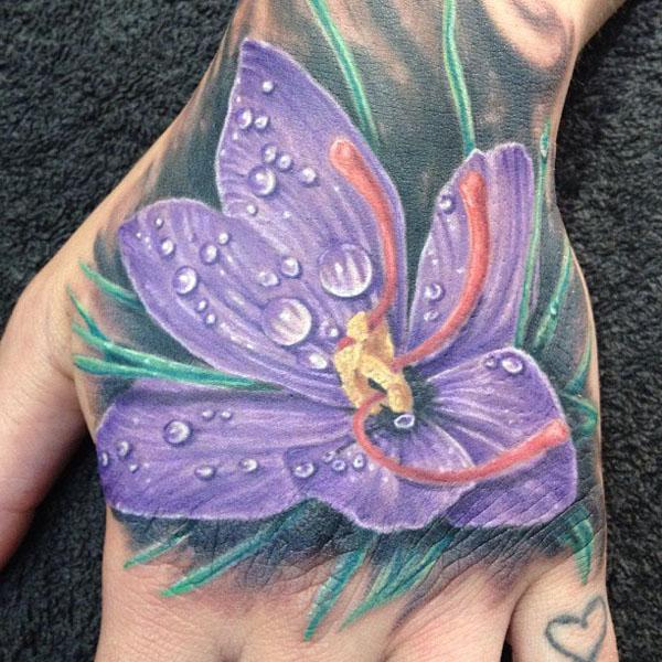 flower flower hand tattoos