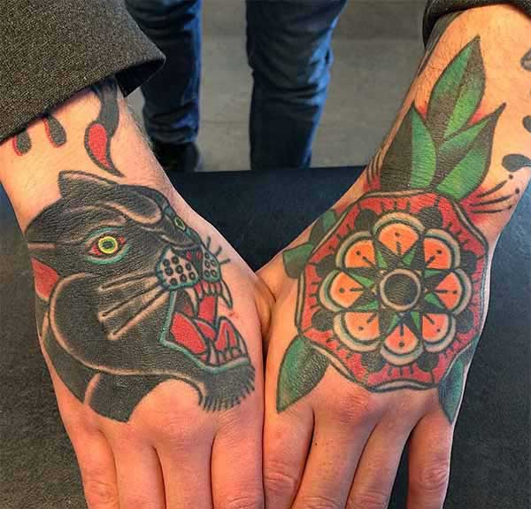 guys hand tattoos
