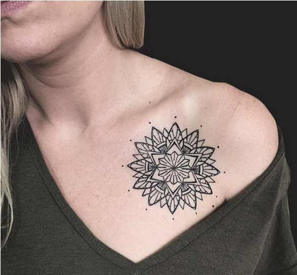 girl mandala tattoos
