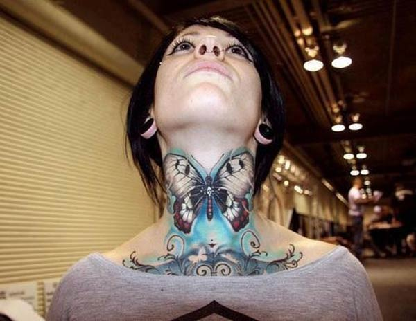i-butterfly neck neck tattoos