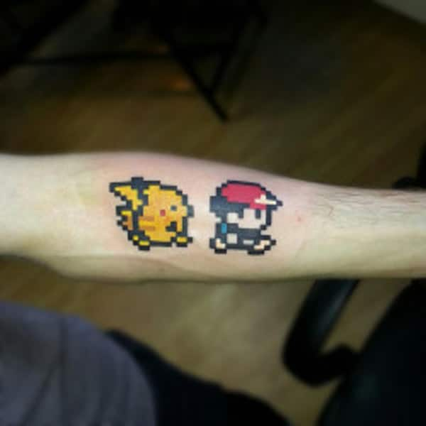 Pokemon tato on the arms