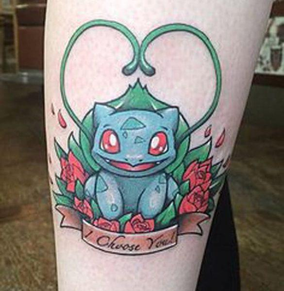 Ljubav Pokemon tatttoo