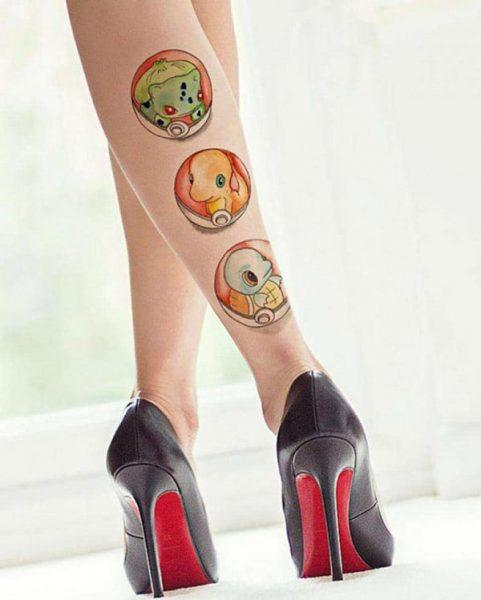 Cute Pokemon Tattooss for Ladies