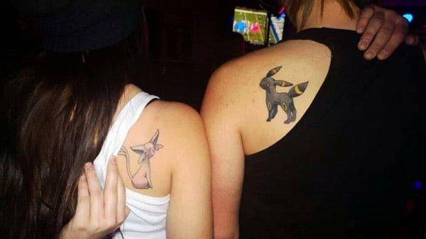 Couple Pokemon tattoes