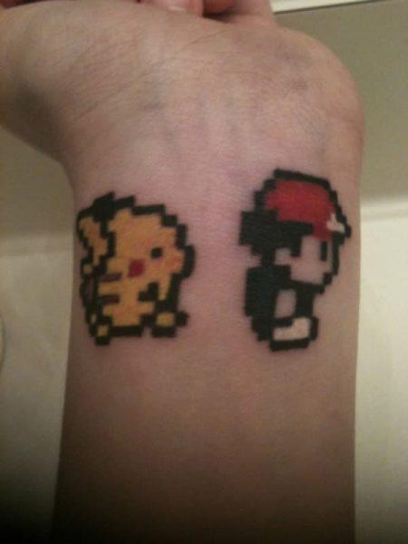 Wrist Pokemon tatooes