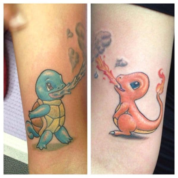 Spitting Pokemon tattoos pics