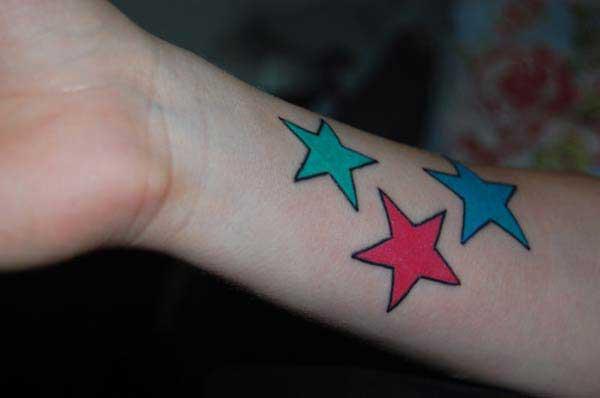 smukke stjerne tatoveringer