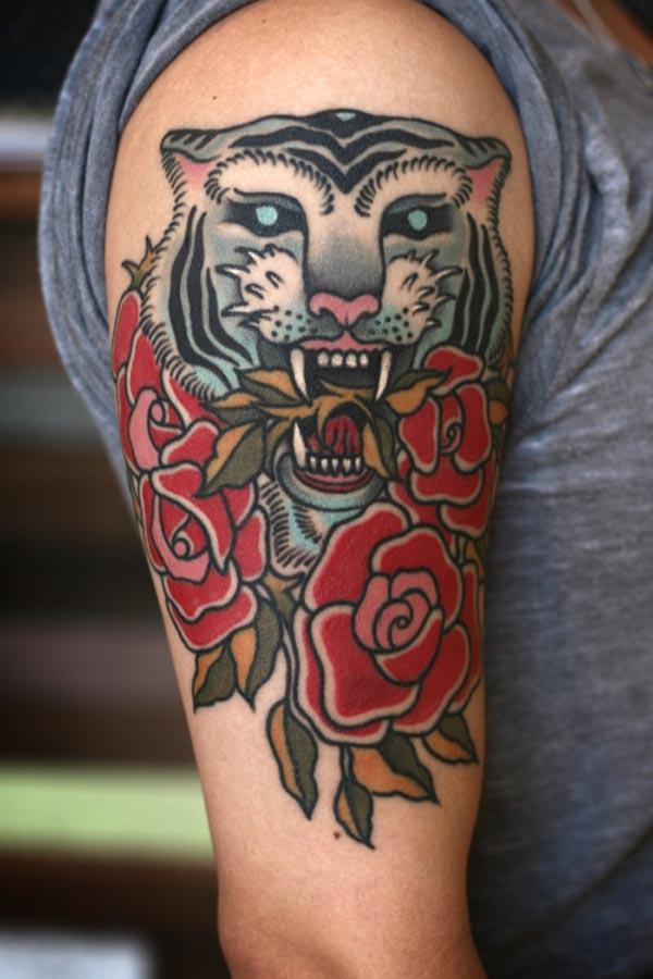 Tiger Tattoo auf Arm