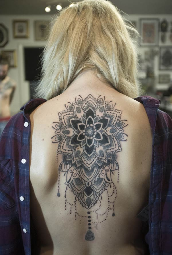back mandala tattoos