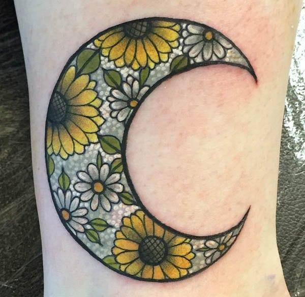 beautiful moon tattoos