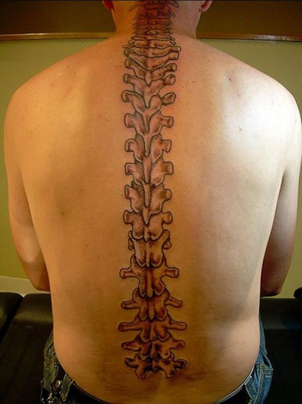 men spine tattoos
