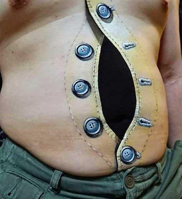 stomach 3d tattoos