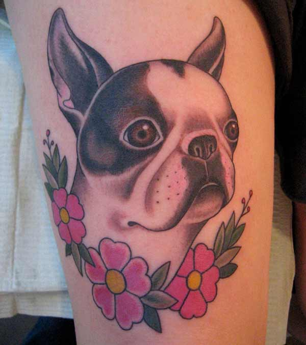 cool dog tatuajes