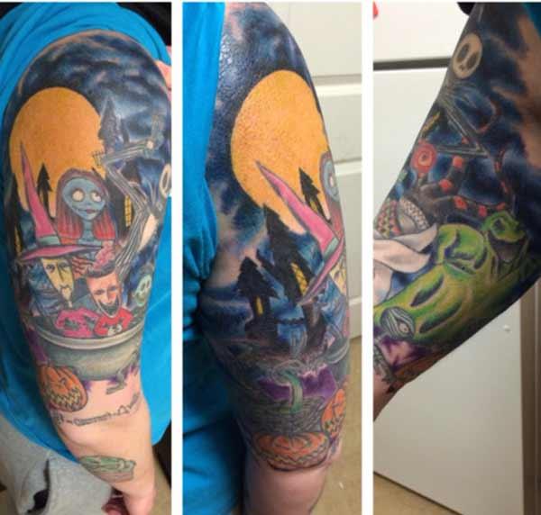 татуировки с половиной рукава для мужчин