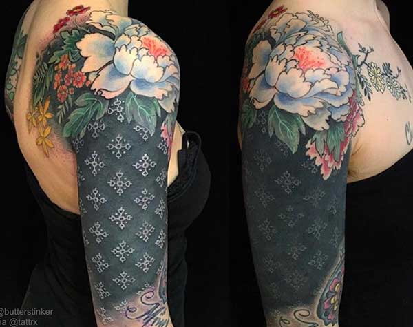feminine half sleeve tattoos