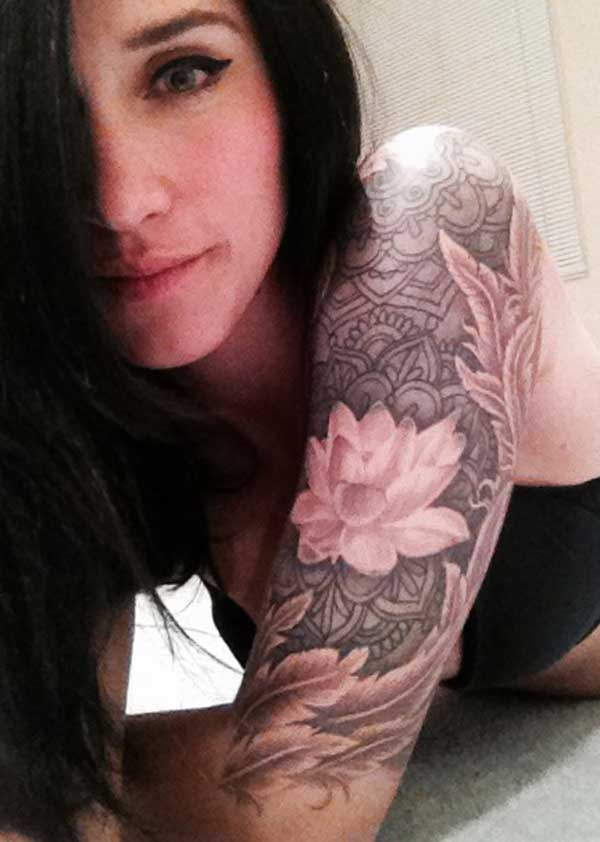 nice half sleeve tattoo for girl