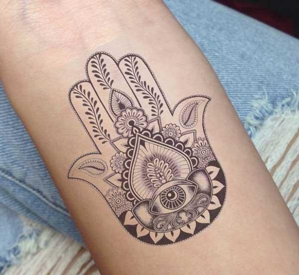 hamsa cute tattoo