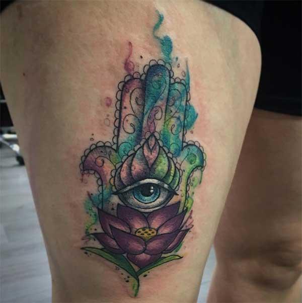 kafa hamsa tattoos
