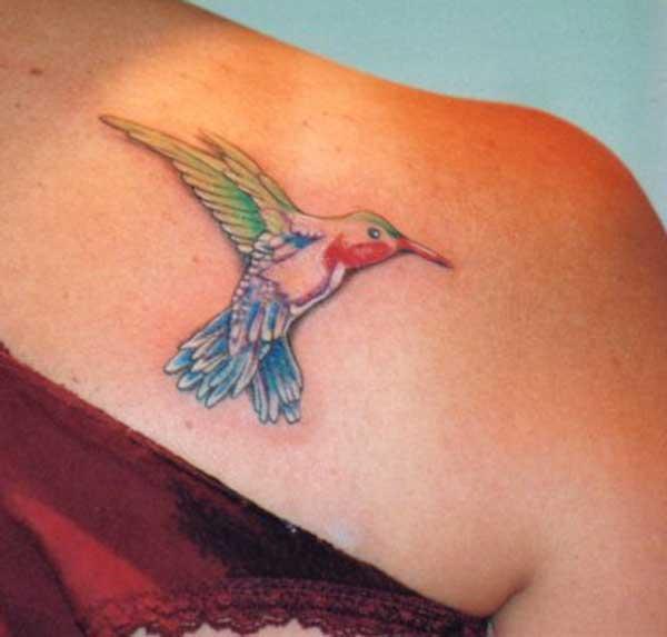 ienfâldige kolibryske tattoos