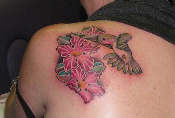 žene hummingbird tetovaže