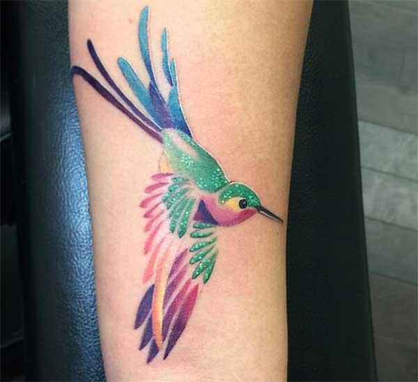 manja a hummingbird zojambula