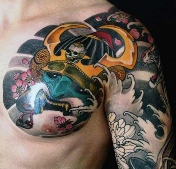 ama-tattoos ase-Japanese chest