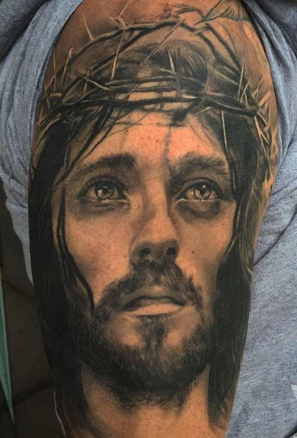 amazing jesus tattoos