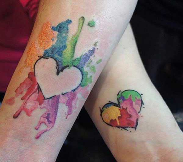 kongruante tatuajes por amantoj
