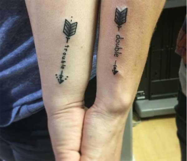 pil matchende tatoveringer