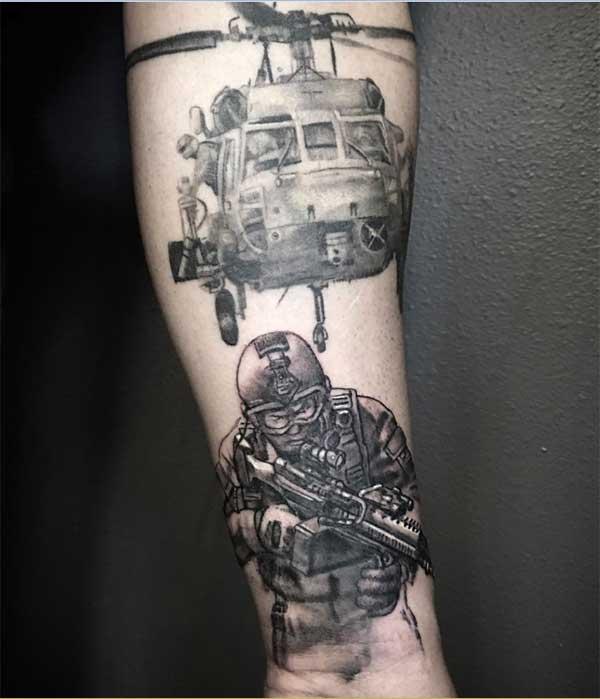 miundo ya kijeshi tattoos