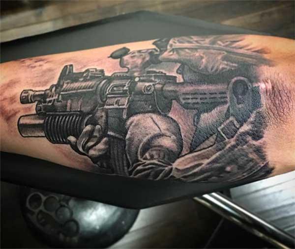 tattoos ya kijeshi ya kushangaza