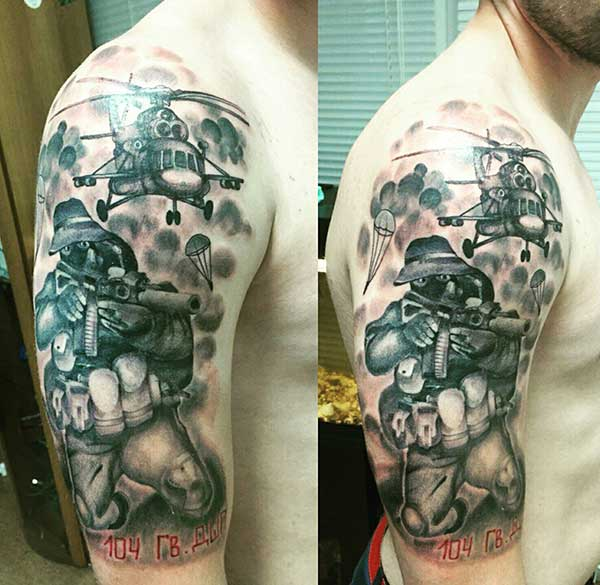 Tattoos miundo ya kijeshi