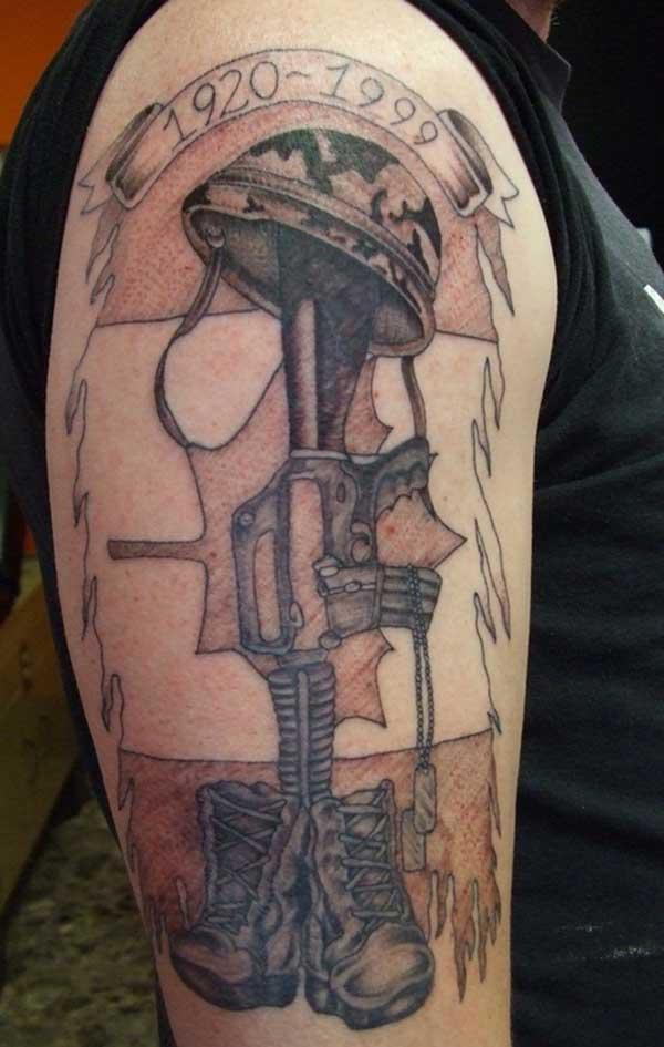 tattoos kwa kijeshi